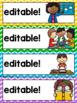 Schedule Cards {Primary Colors Chevron Classroom Decor Theme}