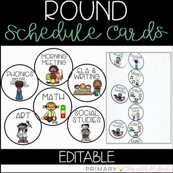 EDITABLE Round Schedule Cards
