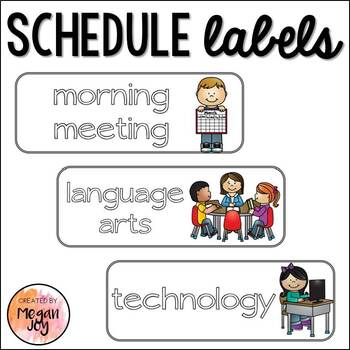 Schedule Label Cards