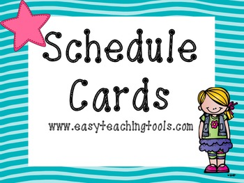 Schedule Cards {38 Turquoise Waves}