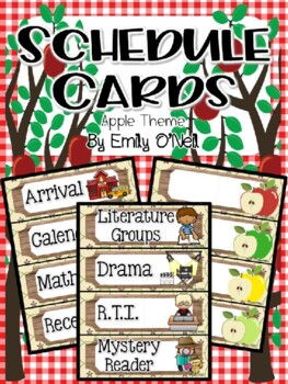 Schedule Cards (Apple Theme)