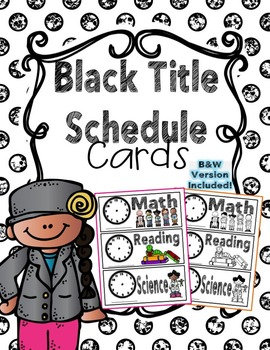 Schedule Cards - Black Title