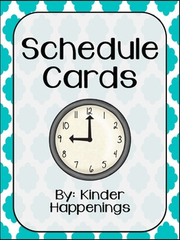 Editable Schedule Cards- Blue