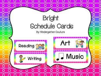 Schedule Cards -Bright