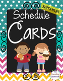 Schedule Cards {Chalkboard Chevron Polka Dot}