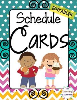 Schedule Cards {Chevron Polka Dot Theme}