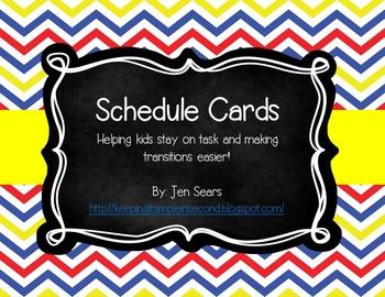 Schedule Cards (Classic School Theme)