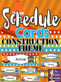 Schedule Cards Construction Theme