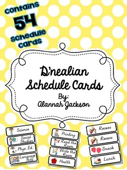 Schedule Cards (D'nealian)