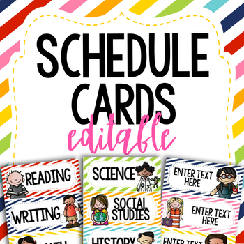 Schedule Cards- EDITABLE!