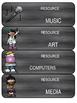 Schedule Cards | Editable | Chalkboard Theme