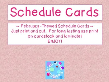 Labels - Schedule Cards ~ February Theme