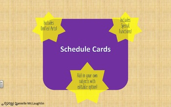 Schedule Cards For All of Your Needs!