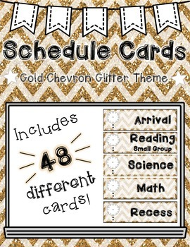 Schedule Cards: Glitter Chevron