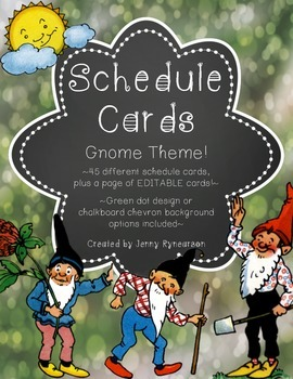 Schedule Cards! Gnome Theme! 45 Different Cards, Plus One