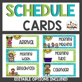 Schedule Cards Lime and Teal