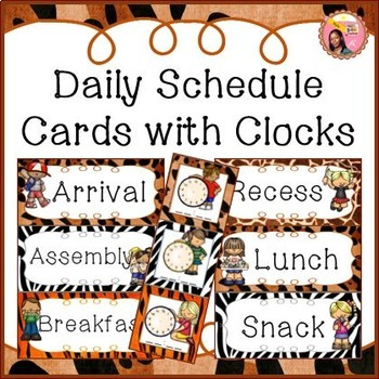 Schedule Cards for fixed daily non-subject routines - Jung