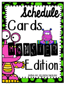 Schedule Cards Monster Edition DOLLAR DEAL