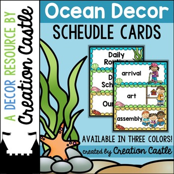 Schedule Cards - Ocean Decor