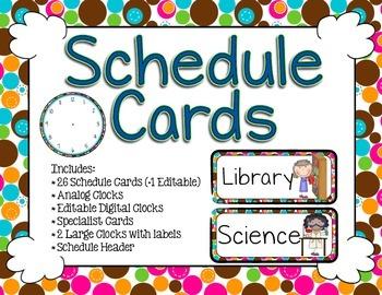 Schedule Cards - Print Bubble Dot