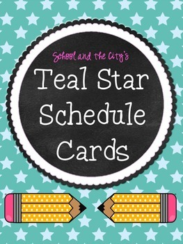 Schedule Cards - Teal Stars