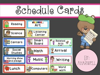 Schedule Cards With Pictures