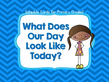 Schedule Cards for Primary Grades