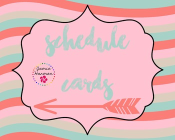 Schedule Cards with Arrow Accents