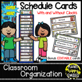 Schedule Cards with Clocks ~ Super Hero Theme