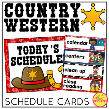 Schedule Cards {Country Western Classroom Decor Theme}