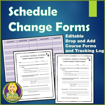 Schedule Change (Class Add and Drop) Forms