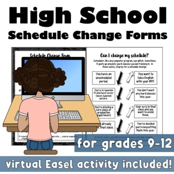 High School Schedule Change Forms & Infographic
