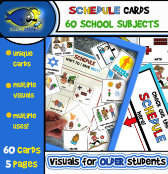 Schedule/Class Subject Cards (Upper Elementary/Middle Scho