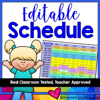 Schedule ... EDITABLE, colorful, and awesome!