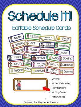 Schedule It! (Primary Schedule Cards)