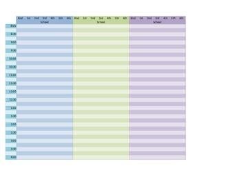 Schedule Planning Chart