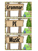 Schedule Subject Headings- Camp Theme