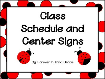 Schedule Cards - Ladybugs