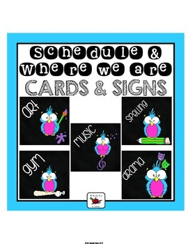 Schedule and Where We Are Cards (with some editable option