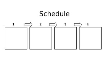 Schedule with 4 squares.