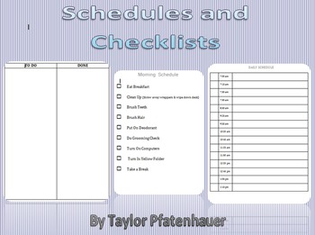 Schedules and Checklists