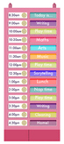 Scheduling Pocket Chart + Free Fonts4Teachers CD