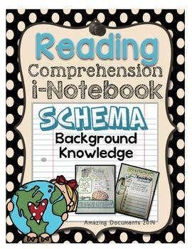 Schema/Background Knowledge -iNotebook Pages