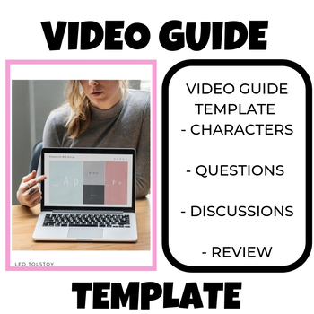 Video Guide Template Sheet