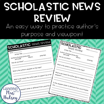 Scholastic News Review: Author's Purpose and Viewpoint