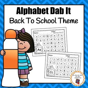 School Alphabet Dab It