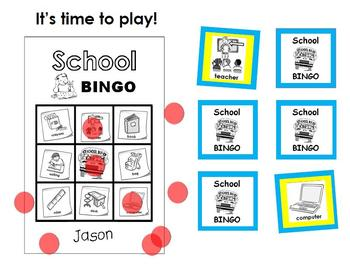 School BINGO Activity
