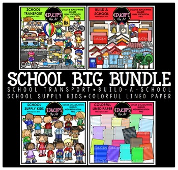 School Big Clip Art Bundle