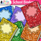 Binder Clip Art {Rainbow Glitter Back to School Supplies f