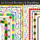 School Borders - Back to School Themes - 15 School Supplie